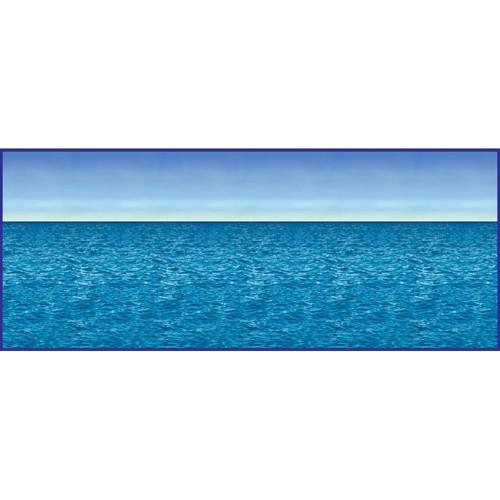 Ocean Horizon Party Backdrop, Blue