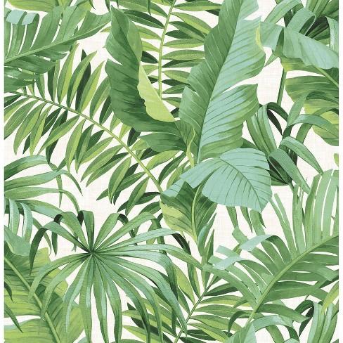 Maui Peel And Stick Wallpaper Green Brewster