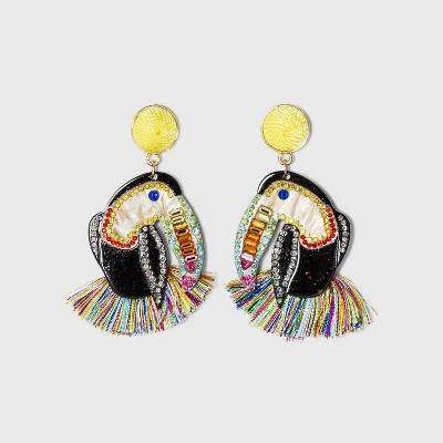 SUGARFIX by BaubleBar Colorful Toucan Drop Earrings