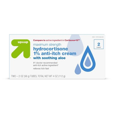 Anti-Itch 1% Hydrocortisone Maximum Strength Cream with Aloe - up & up™