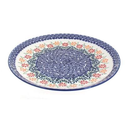 Blue Rose Polish Pottery Garden Bouquet Large Dinner Plate