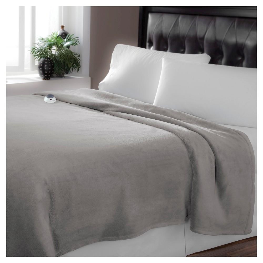 Luxe Plush Warming Blanket (King) Gray - Soft Heat