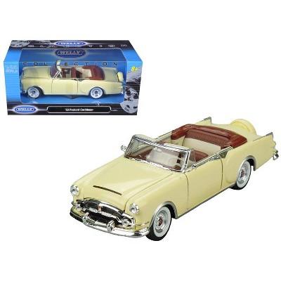 1953 Packard Caribbean Convertible Cream 1/24 Diecast Model Car by Welly