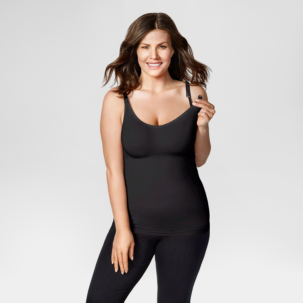 Bravado! Designs Women's Body Silk Seamless Nursing Cami - Black M
