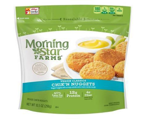 MorningStar Farms Classic Frozen Veggie Chik'n Nuggets - 10.5oz - image 1 of 4