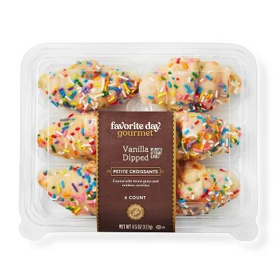 Vanilla Dipped Petite Croissants - 4.5oz/6ct - Favorite Day™