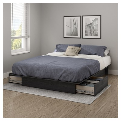Queen Step One Platform Bed with Drawers - South Shore