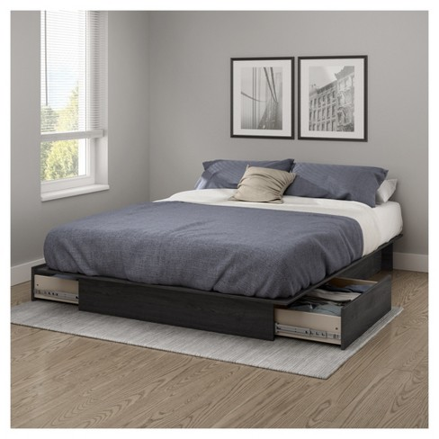 Step One Platform Bed With Drawers South S