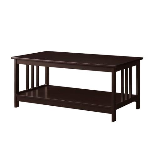 Mission Coffee Table Espresso Brown Johar Furniture