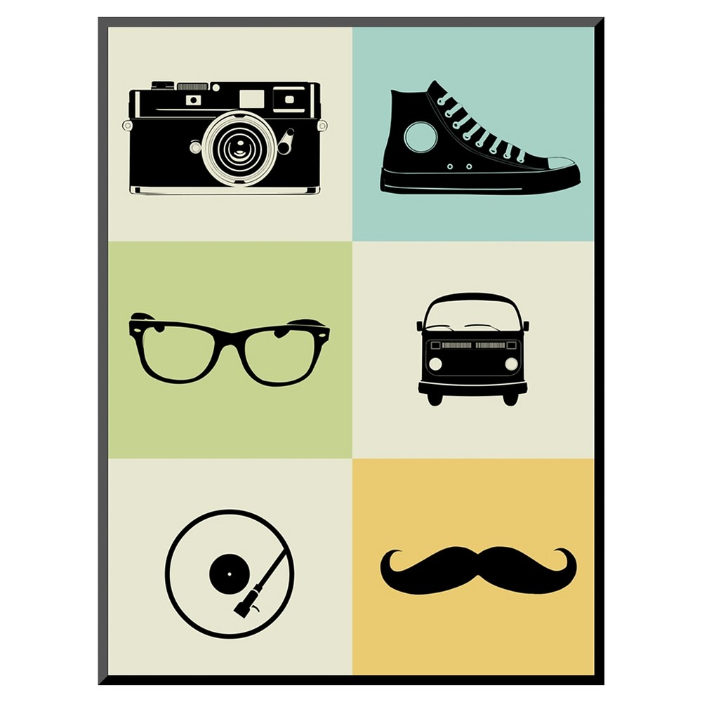 Art.com Hipster Mix Mounted Print, Multi Colored