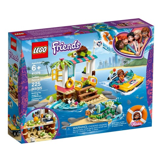 LEGO Friends Turtles Rescue Mission 41376 Building Kit Includes Toy Vehicle and Clinic 225pc image number null