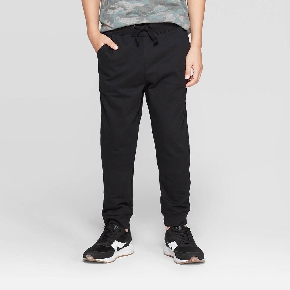 Image of Boys' Knit Jogger Sweatpants - Cat & Jack Black M, Boy's, Size: Medium