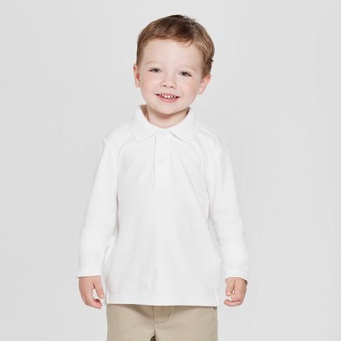 0e4702aa9 Toddler Boys' Long Sleeve Interlock Uniform Polo Shirt - Cat & Jack ...