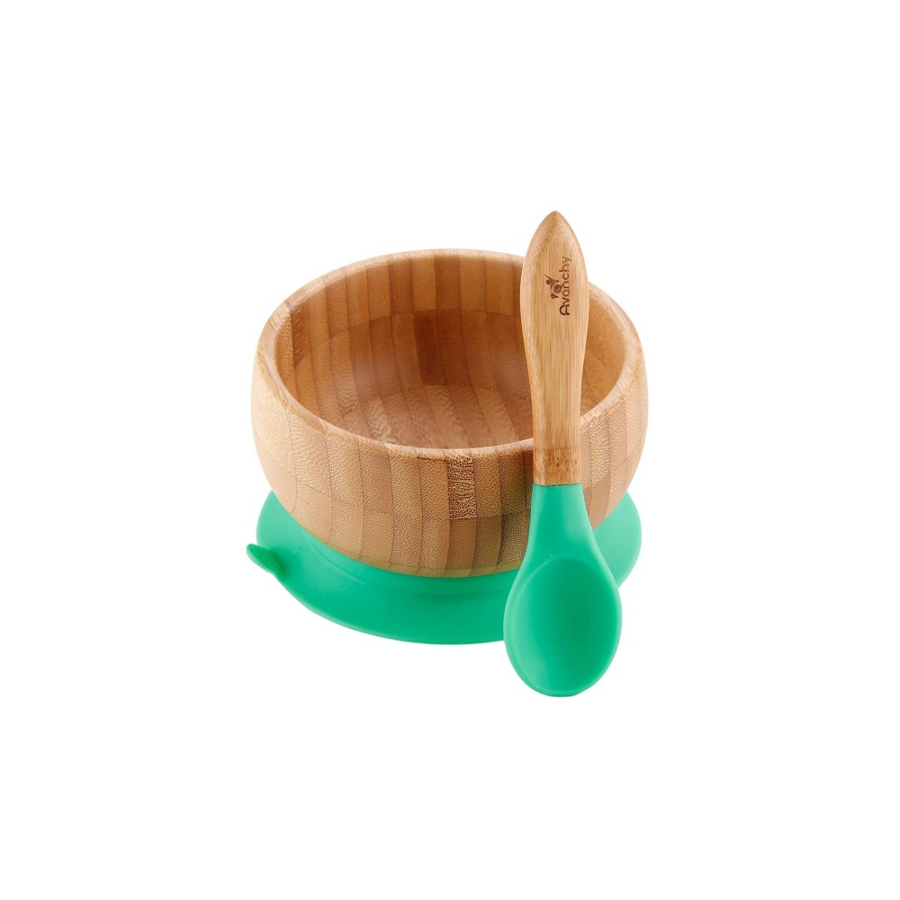 Image of Avanchy Bamboo Baby Bowl - Green