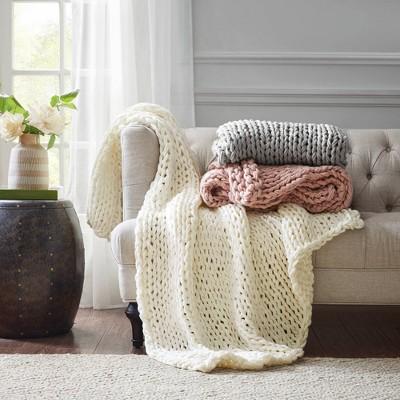 "50""x60"" Chunky Double Knit Handmade Throw Blanket : Target"