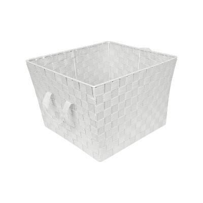 "Simplify Large 15"" Woven Strap Storage Bin Heather Gray"