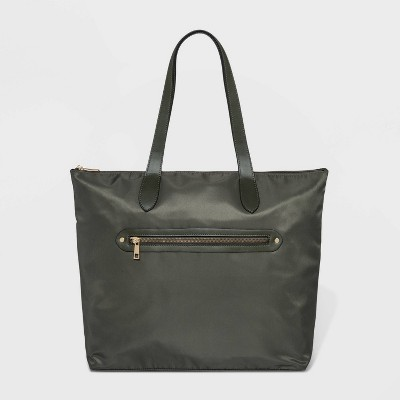 Zip Closure Tote Handbag - A New Day™ Green