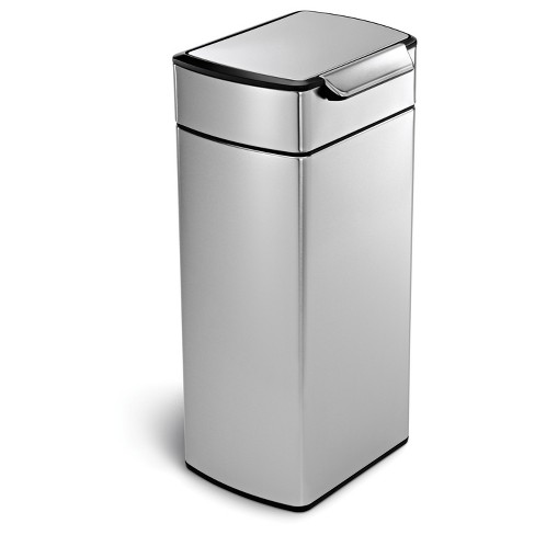 Simplehuman 30 Liter Rectangular Touch-Bar Trash Can, Fingerprint-Proof Brushed Stainless Steel - image 1 of 5