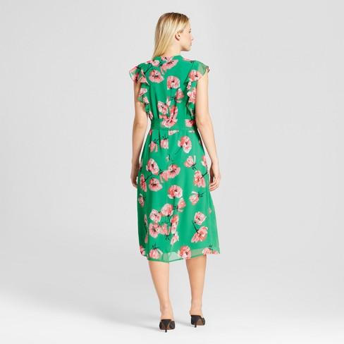 c945b8c2e2ad Women s Ruffle Sleeve Midi Dress - Who What Wear™   Target