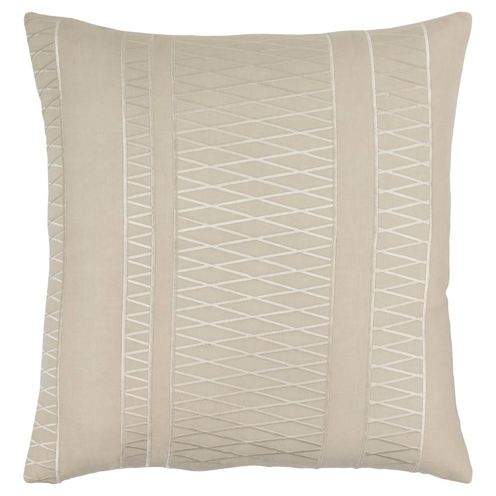 Beige Lockmead Woven Throw Pillow (22x22