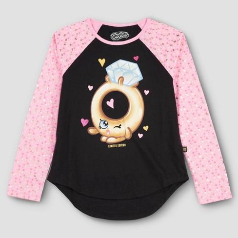 Girls' Shopkins Roxy Ring Long Sleeve T-Shirt - Pink XL - image 1 of 1