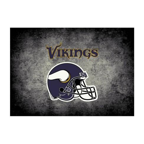 Minnesota Vikings 6 X8 Distressed Rug