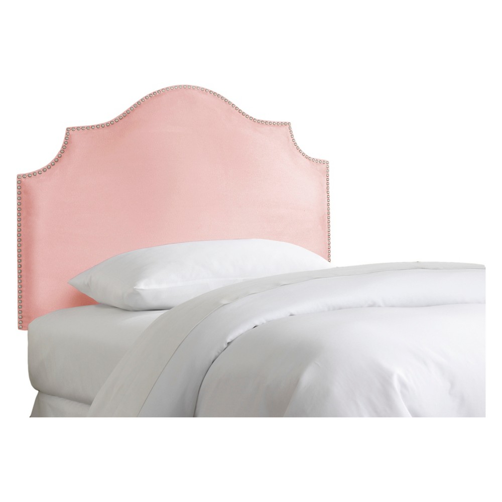 Full Kids' Nail Button Notched Headboard Premier Light Pink - Skyline Furniture