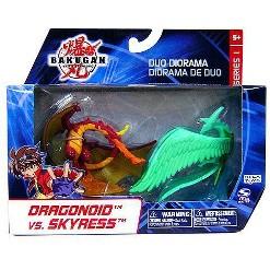 Bakugan Battle Brawlers Duo Diorama Series 1 Dragonoid vs. Skyress Mini Figure 2-Pack