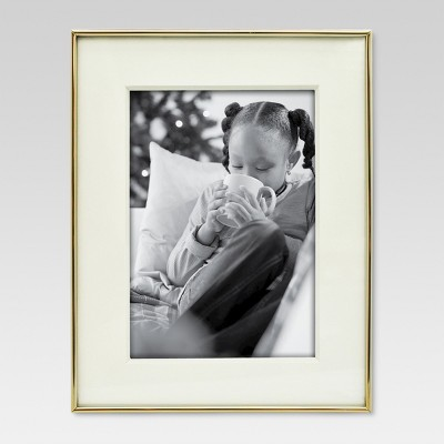 Thin Profile 7 x9  Matted for 5 x7  Brass Frame - Threshold™