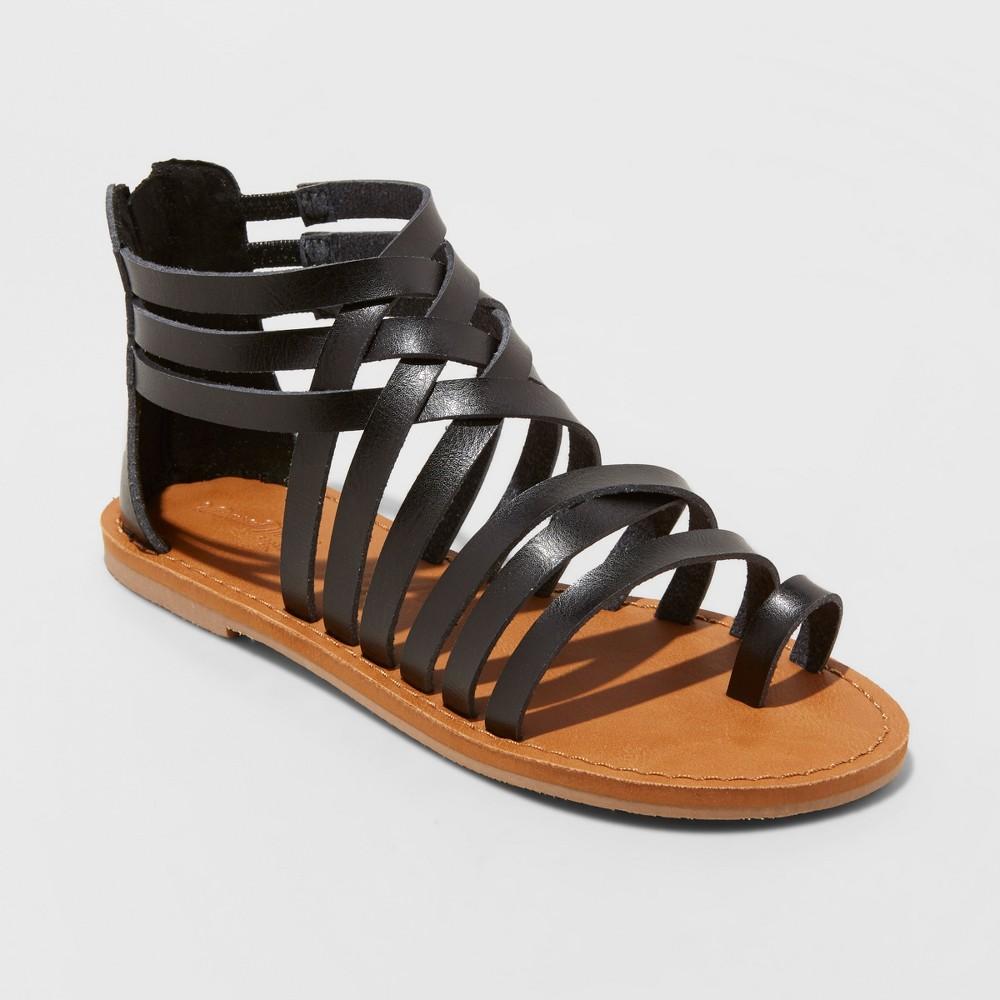 Women's Makena Gladiator Sandals - Universal Thread Black 12