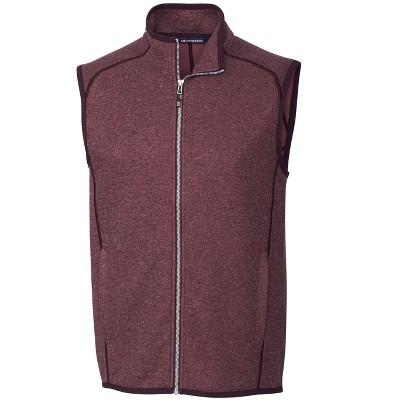 Cutter & Buck Mainsail Sweater-Knit Mens Full Zip Vest