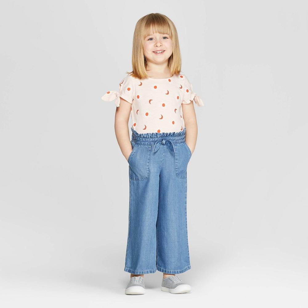 Genuine Kids from OshKosh Toddler Girls' Tie Sleeve Top and Bottom Set - Peach 3T, Pink