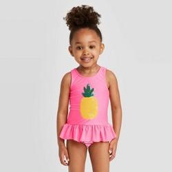 Toddler Girls' Pineapple Tankini Set - Cat & Jack™ Pink