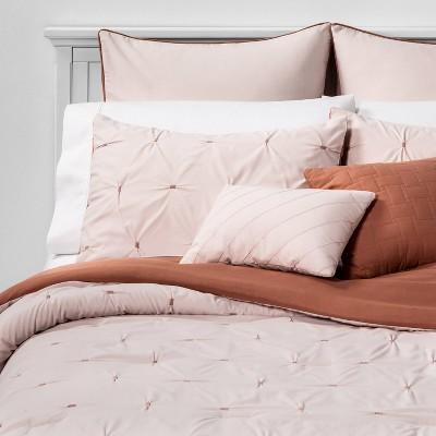 King Solid Jessamy Comforter & Sham Set Blush