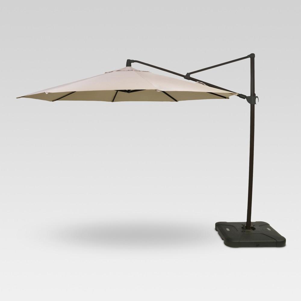 11' Offset Umbrella - Tan - Black Pole - Threshold