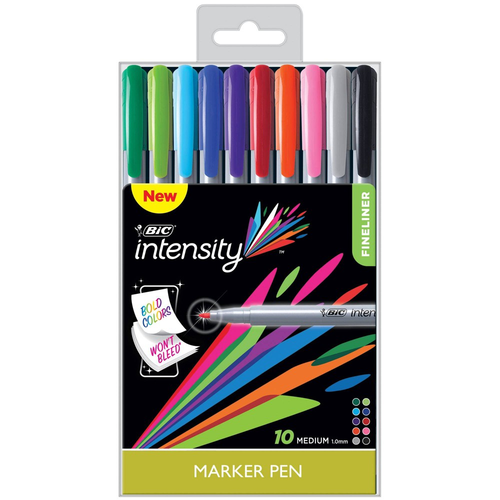 Image of 10pk Permanent Marker Pens - BIC