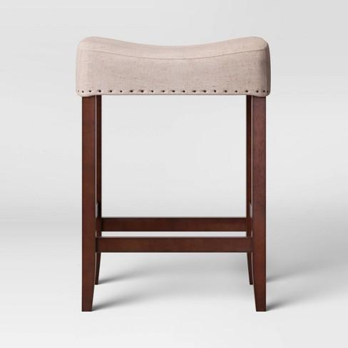 "24"" Rumford Saddle Counter Height Barstool with Wood Leg - Threshold™ - image 1 of 3"