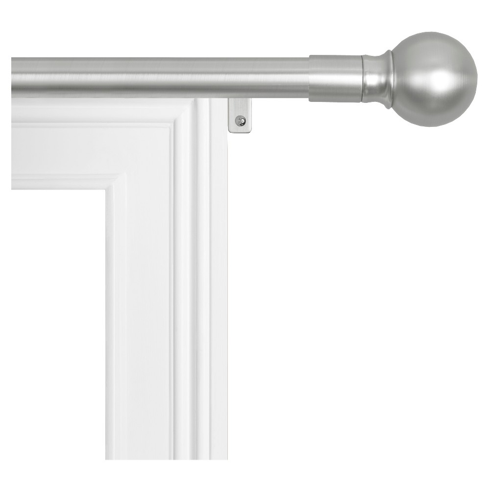"Image of ""18""""x48"""" Easy Install Drapery Window Rod Brushed Nickel - Smart Rods"""