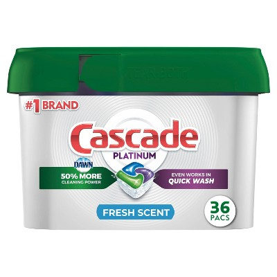 Cascade Platinum ActionPacs Fresh Scent Dishwasher Detergent