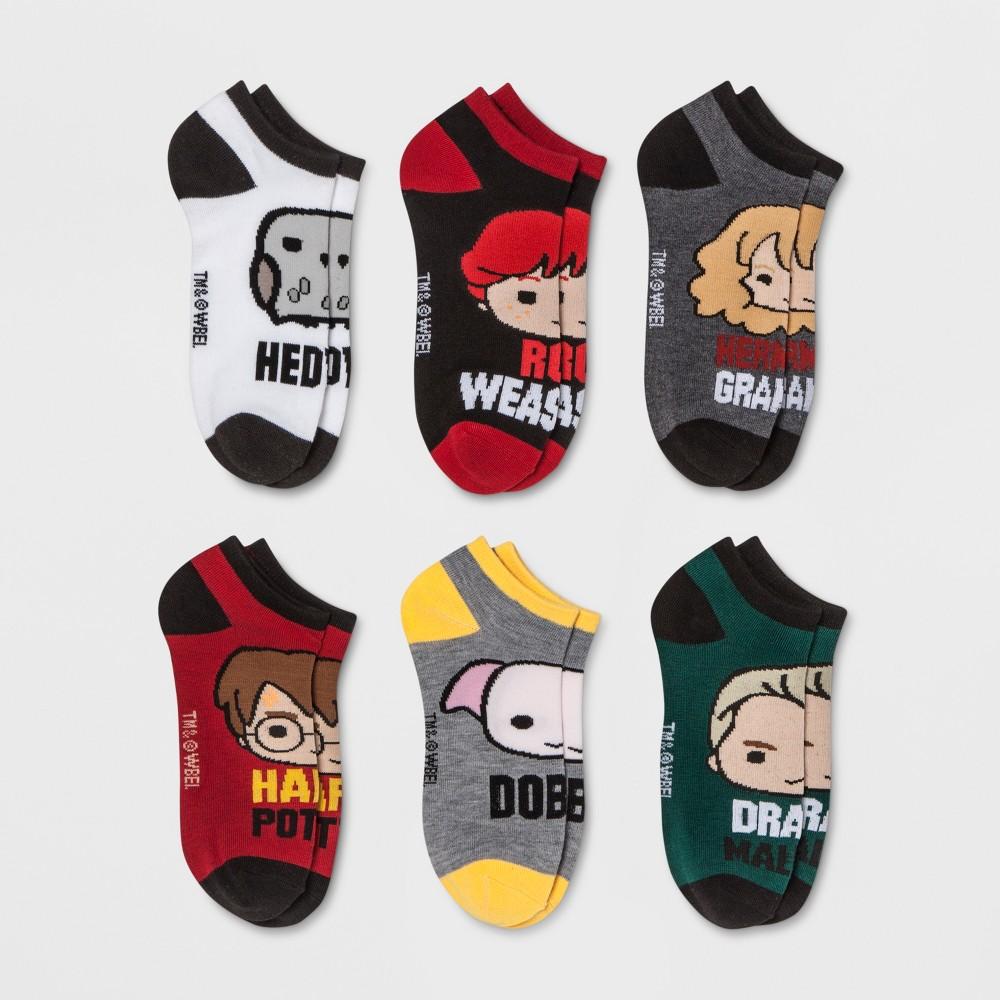 Image of Women's Harry Potter 6pk Low Cut Socks - One Size, Women's, Red
