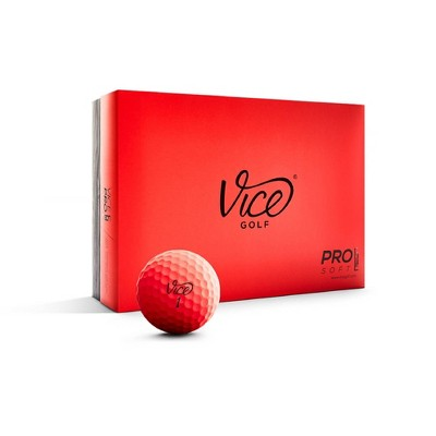 Vice Pro Soft Golf Balls - Neon Red