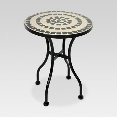 Mosaic Patio Accent Table - White - Threshold™