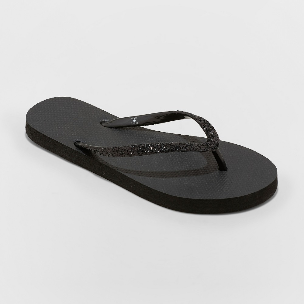Women's Brynn Glitter Flip Flop - Shade & Shore Black 10