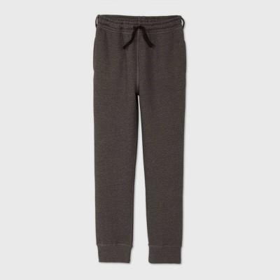 Boys' Adaptive Fleece Jogger Pants - Cat & Jack™ Gray