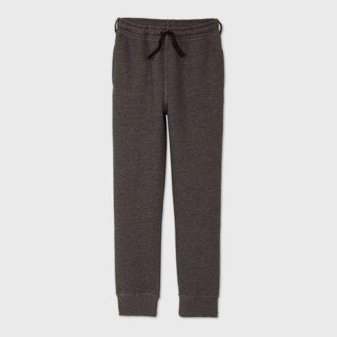 Boys' Adaptive Fleece Jogger Pants - Cat & Jack™ Gray - image 1 of 3