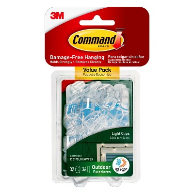 Command™ Outdoor Light Clips, 32/pk