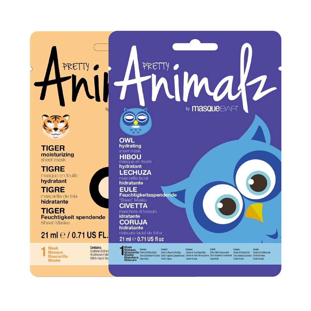 Masque Bar Animalz Assorted Basic Cleansing Facial Treatments - .71 fl oz