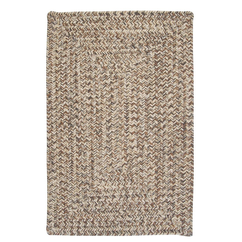 Forest Tweed Braided Area Rug Light Brown