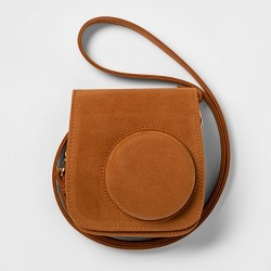 heyday™ Instant Camera Brown Faux Suede Cross Body Case