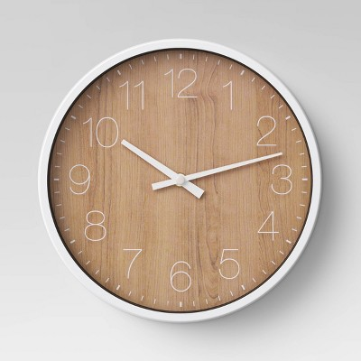 10  Round Wall Clock Walnut Finish - Project 62™